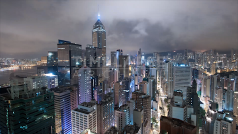Time-lapse Hong Kong: Central Rooftop Night