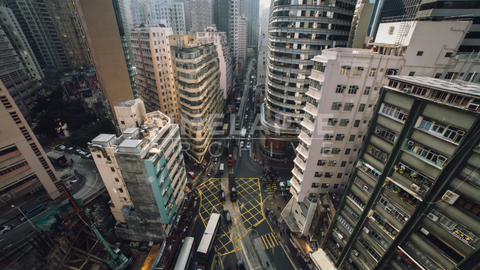 Time-lapse Hong Kong: Johnston and Fleming Rd (Wide)
