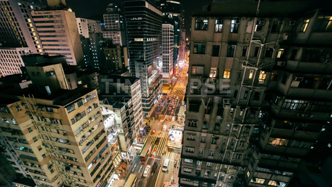 Time-lapse Hong Kong: Argyle Street At Night (CU)