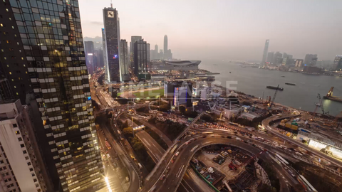 Time-lapse Hong Kong: Gloucester Rd Day To Dusk