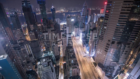 Time-lapse Hong Kong: Canal Road Flyover From Above