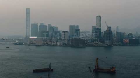 Time-lapse Hong Kong: Kowloon & IFC At Dusk
