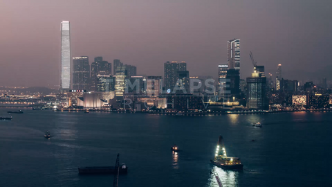 Time-lapse Hong Kong: Kowloon & IFC Dusk To Night