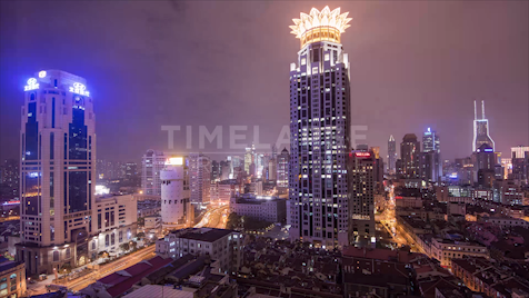 Time-lapse Shanghai: Rooftop French Concession Day