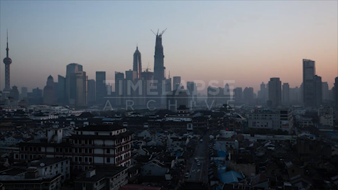 Time-lapse Shanghai: Morning Skyline