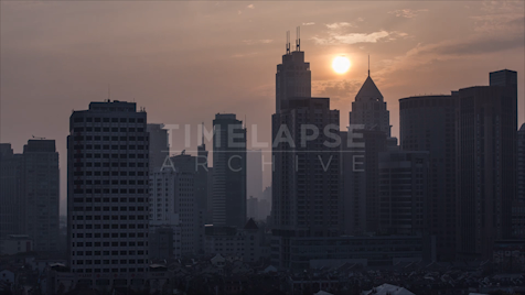 Time-lapse Shanghai: Old City Sunset