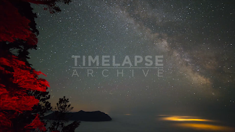 Time-Lapse Tofino: Lone Cone Pan Right