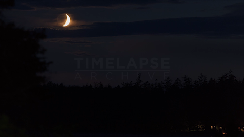 Time-Lapse Tofino: Crescent Moonset