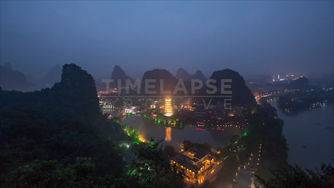 Guilin: Skyline Day to Night