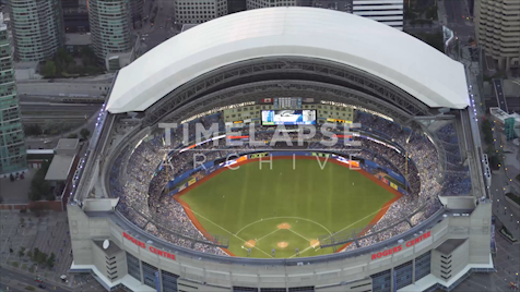Toronto: Aerial Rogers Centre Full House