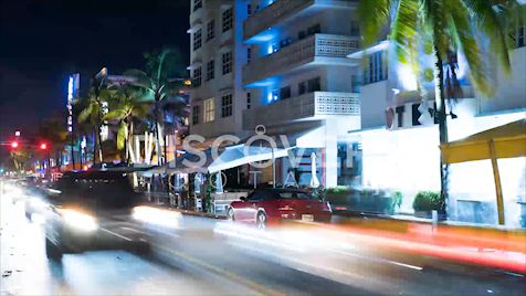 Miami: Night Time-lapse CU 7