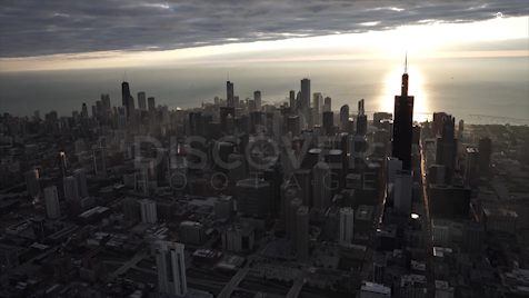 Chicago: Aerial Sunrise Wide 1