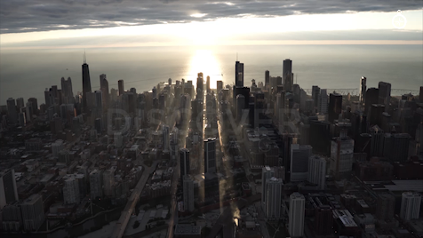 Chicago: Aerial Sunrise Wide 2