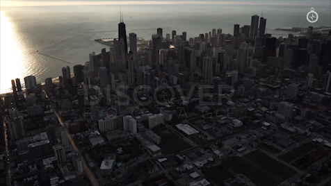 Chicago: Aerial Sunrise Wide 3