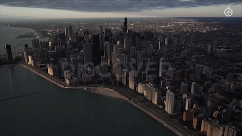 Chicago: Aerial Sunrise Wide 4
