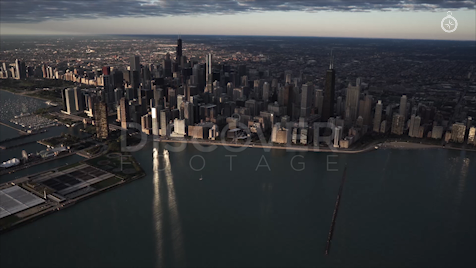 Chicago: Aerial Sunrise Wide 5
