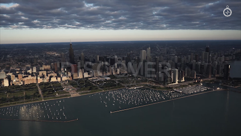 Chicago: Aerial Sunrise Wide 7