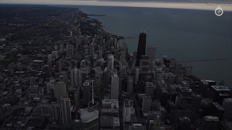 Chicago: Aerial Sunrise Wide 10