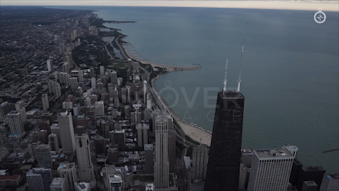Chicago: Aerial Sunrise Wide 12