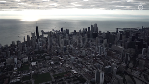 Chicago: Aerial Sunrise Wide 14