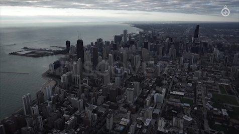 Chicago: Aerial Sunrise Wide 15