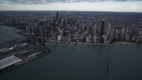 Chicago: Aerial Sunrise Wide 16