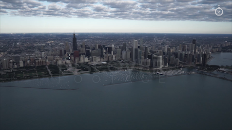 Chicago: Aerial Sunrise Wide 18