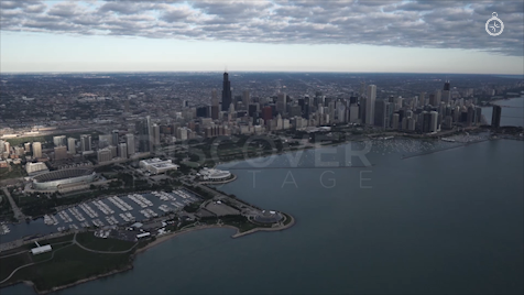 Chicago: Aerial Sunrise Wide 19