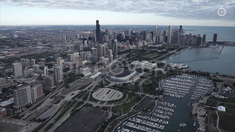 Chicago: Aerial Sunrise Wide 23