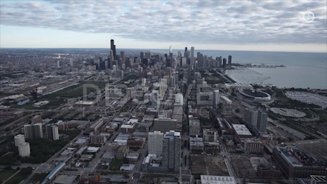 Chicago: Aerial Sunrise Wide 24