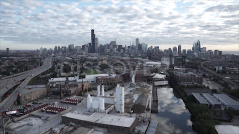 Chicago: Aerial Sunrise Wide 26