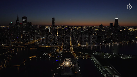 Chicago: Aerial Dusk Wide 1