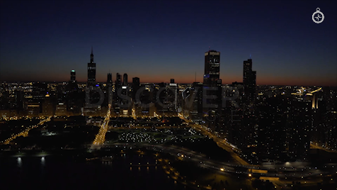 Chicago: Aerial Dusk Wide 2