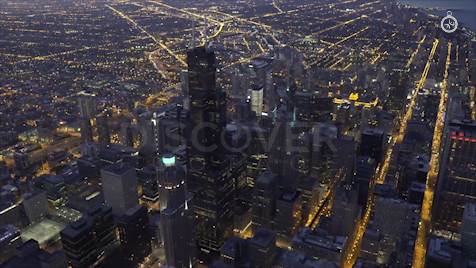 Chicago: Aerial Dusk Wide 6