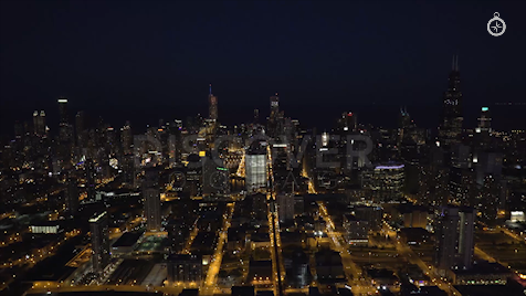 Chicago: Aerial Dusk Wide 9