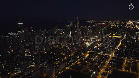 Chicago: Aerial Dusk Wide 10