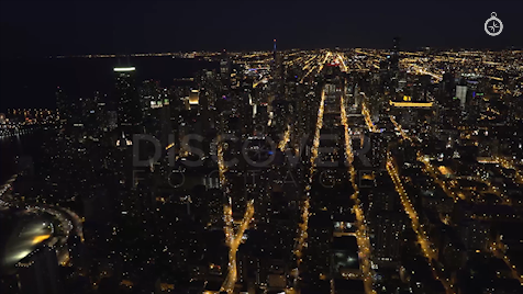 Chicago: Aerial Dusk Wide 11