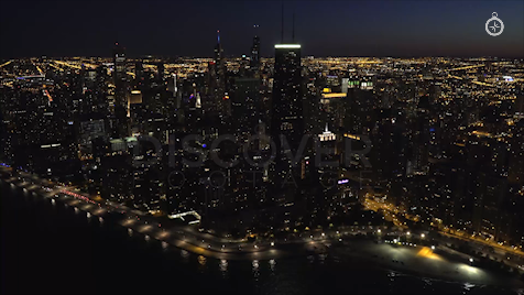 Chicago: Aerial Dusk Wide 12