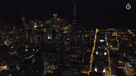 Chicago: Aerial Dusk Wide 14