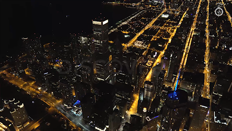 Chicago: Aerial Dusk Wide 15