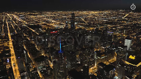 Chicago: Aerial Dusk Wide 16