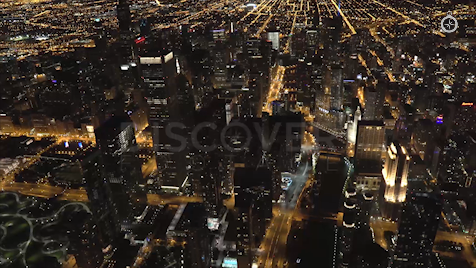 Chicago: Aerial Dusk Wide 17
