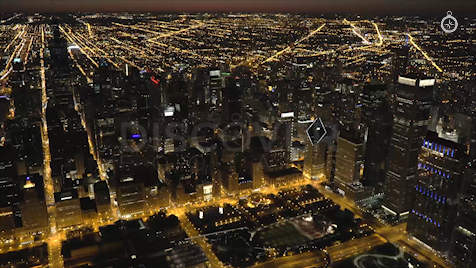 Chicago: Aerial Dusk Wide 18