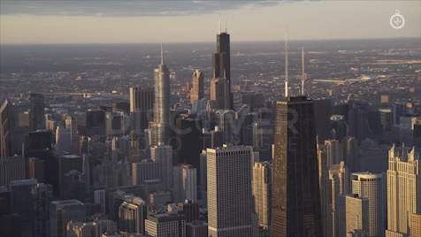 Chicago: Aerial Sunrise 1