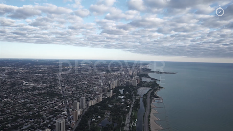 Chicago: Aerial Sunrise Wide 28