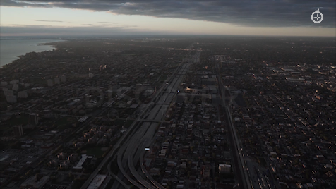 Chicago: Aerial Sunrise Wide 31