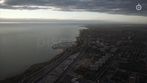 Chicago: Aerial Sunrise Wide 32