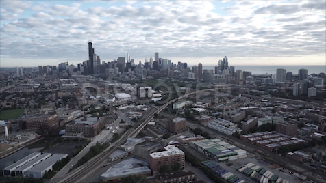 Chicago: Aerial Sunrise Wide 35