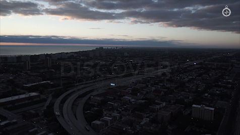 Chicago: Aerial Sunrise Wide 36