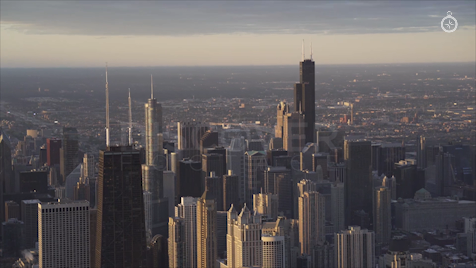 Chicago: Aerial Sunrise 8